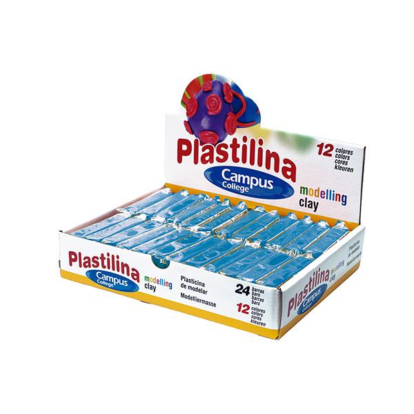 Caja de 24 plastilinas 60 gr azul