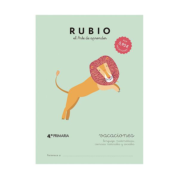 Cuaderno Rubio Vacaciones 4ºprimar/5u
