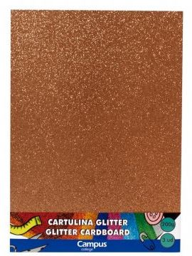 Bolsa 3 cartulinas Glitter 200 gr A4 Bronce