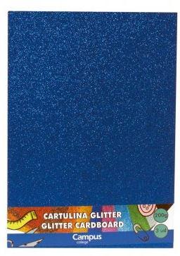 Bolsa 3 cartulinas Glitter 200 gr A4 Azul