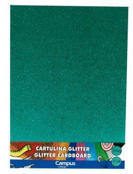 Bolsa 3 cartulinas Glitter 200 gr A4 Verde