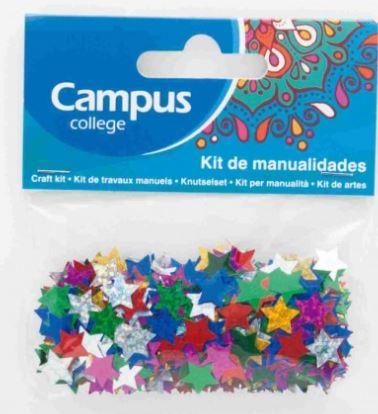 Set manualidades Campus estrellas purpurina