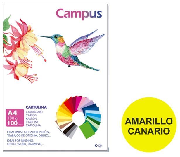 Paquete 50 cartulinas Campus A3 amarillo canario