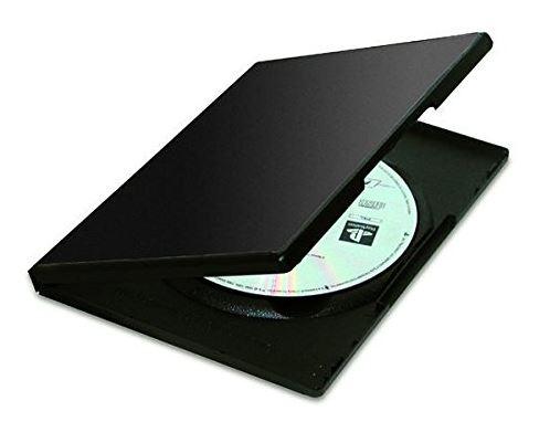Pack 5 cajas estuche para DVDs, color negro
