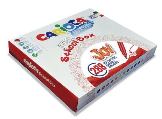 Rotuladores Carioca Pack Escolar 288u 12 colores