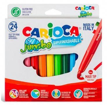 Rotuladores Carioca Jumbo punta maxi 24 colores