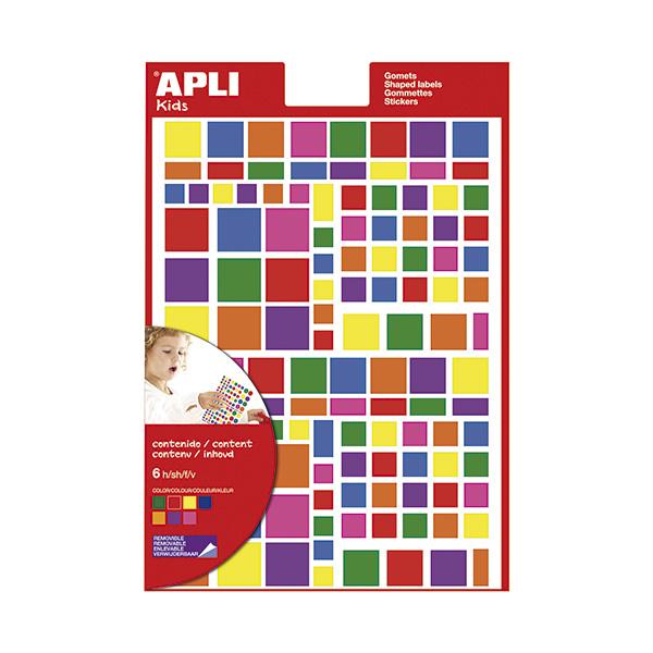 Gomets Apli multicolor cuadrados