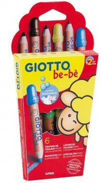 Lápices Giotto Be-Bè 6 colores + sacapuntas