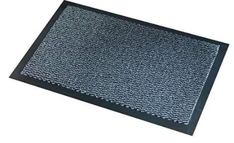 Alfombra Paperflow industrial negro/gris 90x150