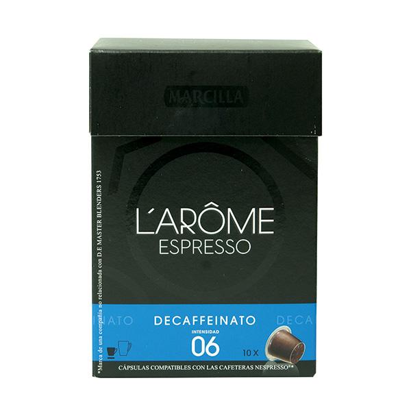 Café Marcilla para Nespresso descafeinado