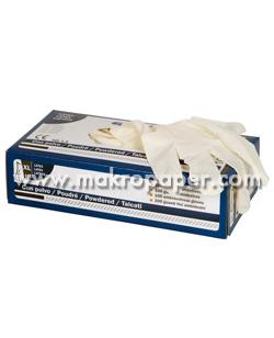 Guantes látex 100% con polvo powdered talla L C/100 unid