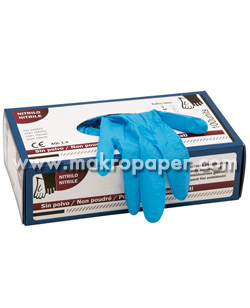 Guantes nitrilo 100% sin polvo powdered talla M