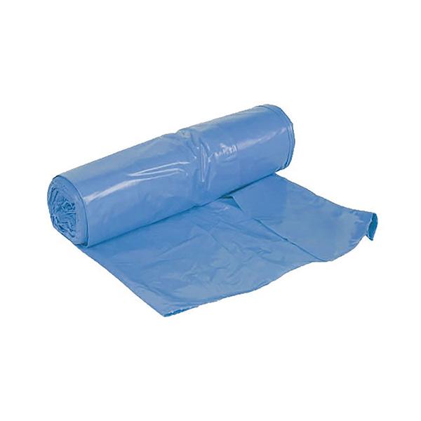 Bolsa de basura azul 55x60 con autocierre