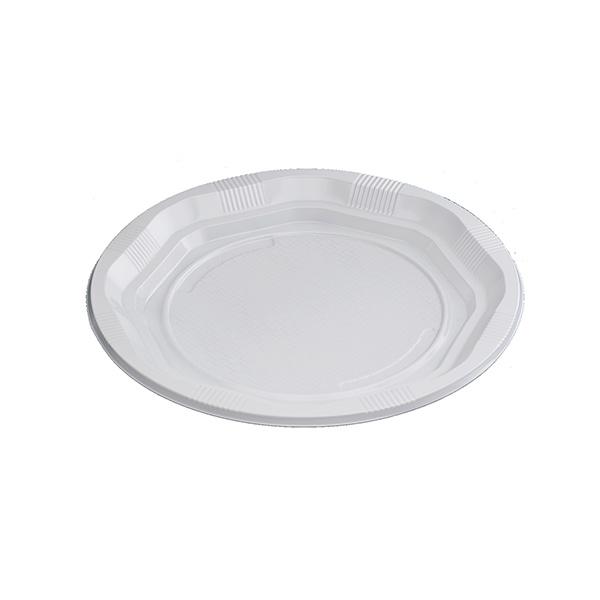 Plato de plástico 25 unid