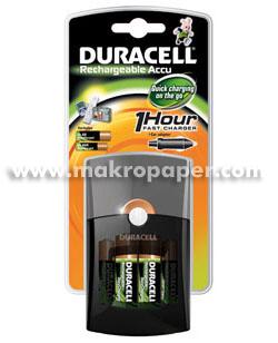 Cargador pilas Duracell CEF27 + 4 pilas