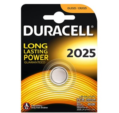 Pila Duracell botón CR2025