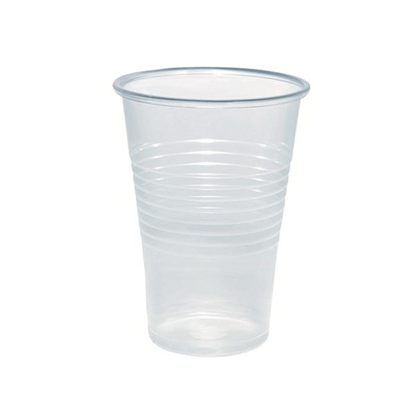 Paquete 100 vasos de plástico transparente 250cc