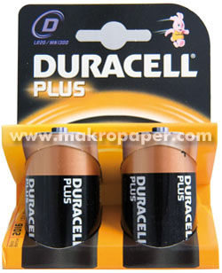 Pila Duracell alcalinas LR20 D