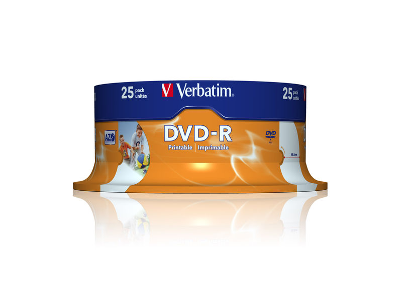 Verbatim bobina 25u DVD-R 16X 4.7GB printable