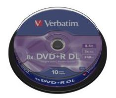 Verbatim DVD+R doble capa 8,5GB 10U