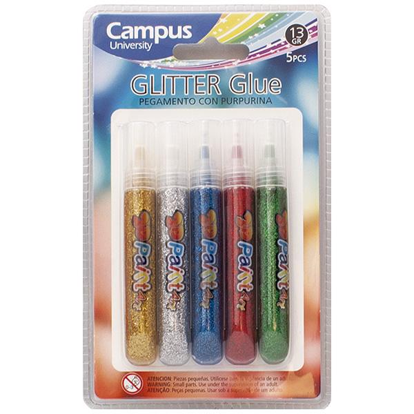 Glitter Glue con purpurina. Blister 5u