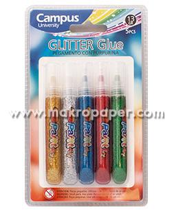 Pegamento con purpurina Blister 5 tubos de colores