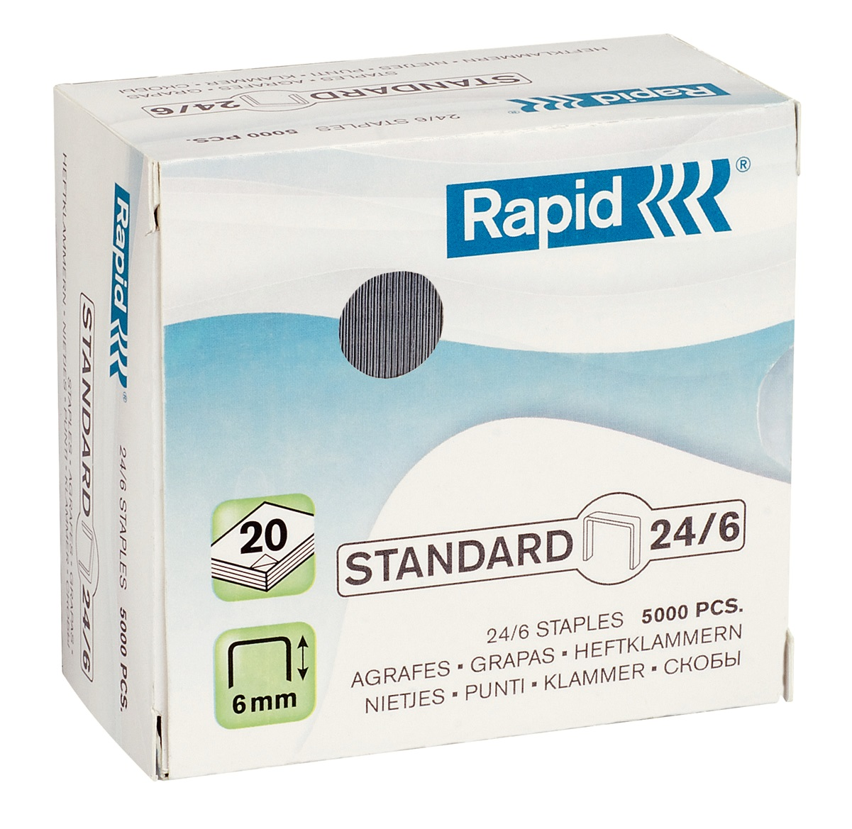 Caja 5000 grapas Rapid Standard 24/6