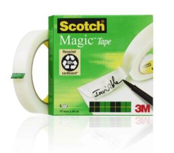Cinta adhesiva invisible scotch magic 66x19 mm