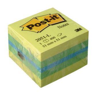 Bloc 400 notas Post-it 51X51 limón
