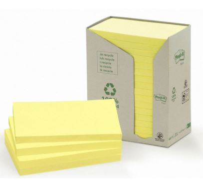 Post-it pack torre 16 Blocs 100h recicladas 76x127