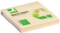 Notas adhesivas recicladas 75x75 amarillas