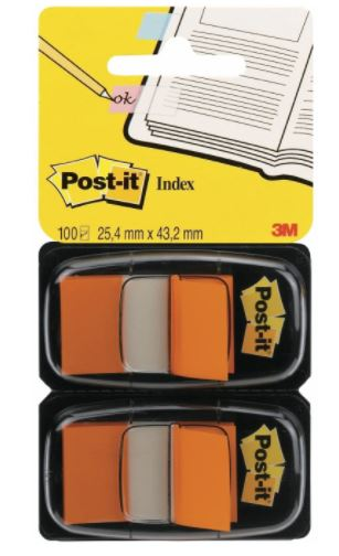 Paquete 2 dispensadores index 25.4x43.1 naranja