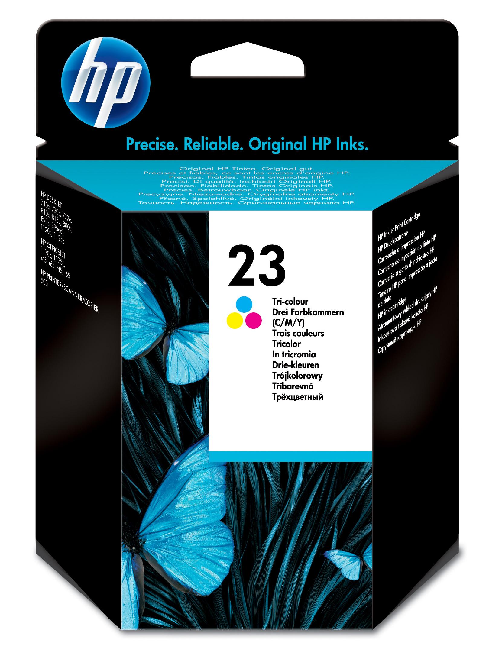 Cartucho inkjet HP 23 (C1823DE) 3 col