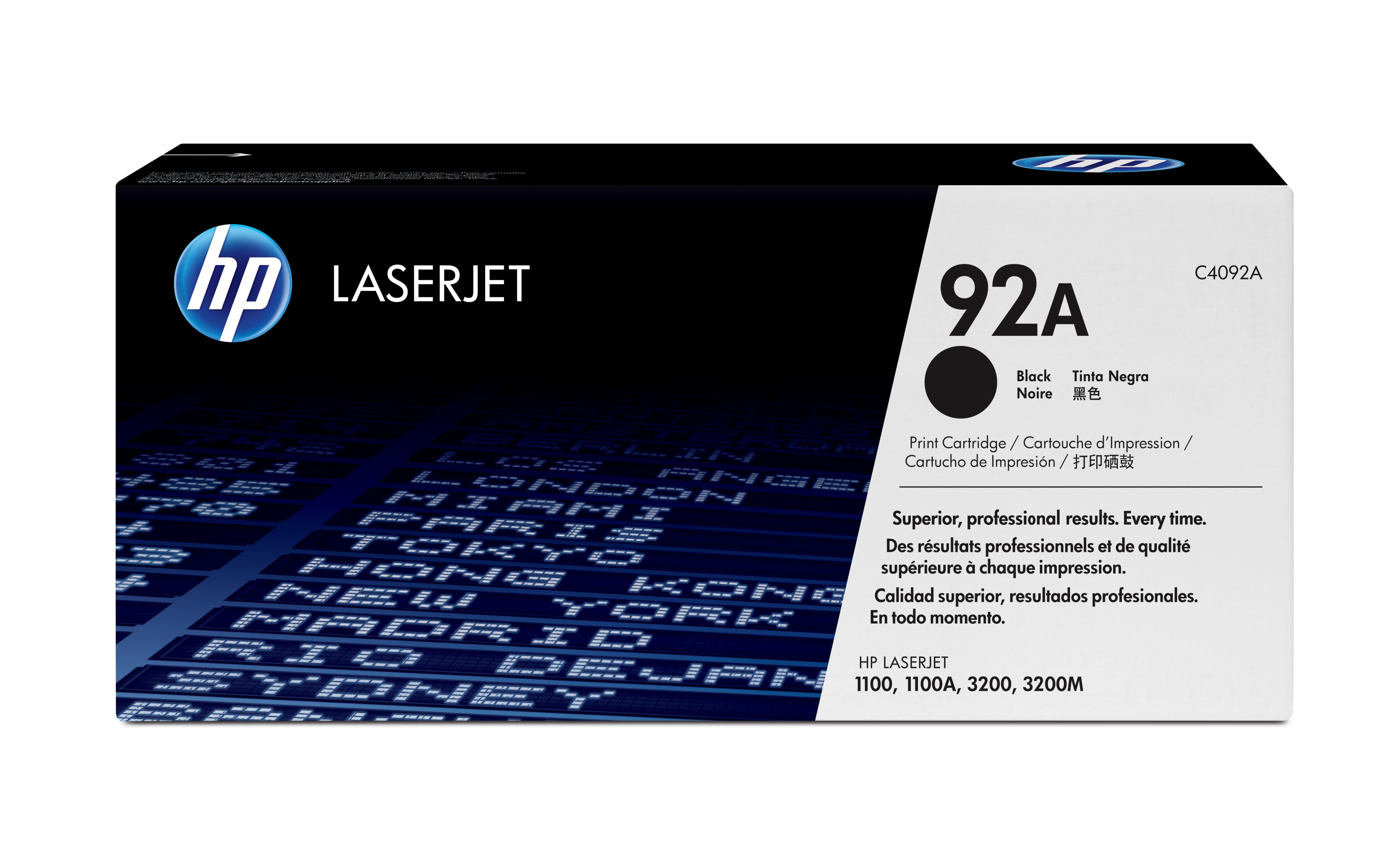 Toner láser HP 92A (C4092A) Negro