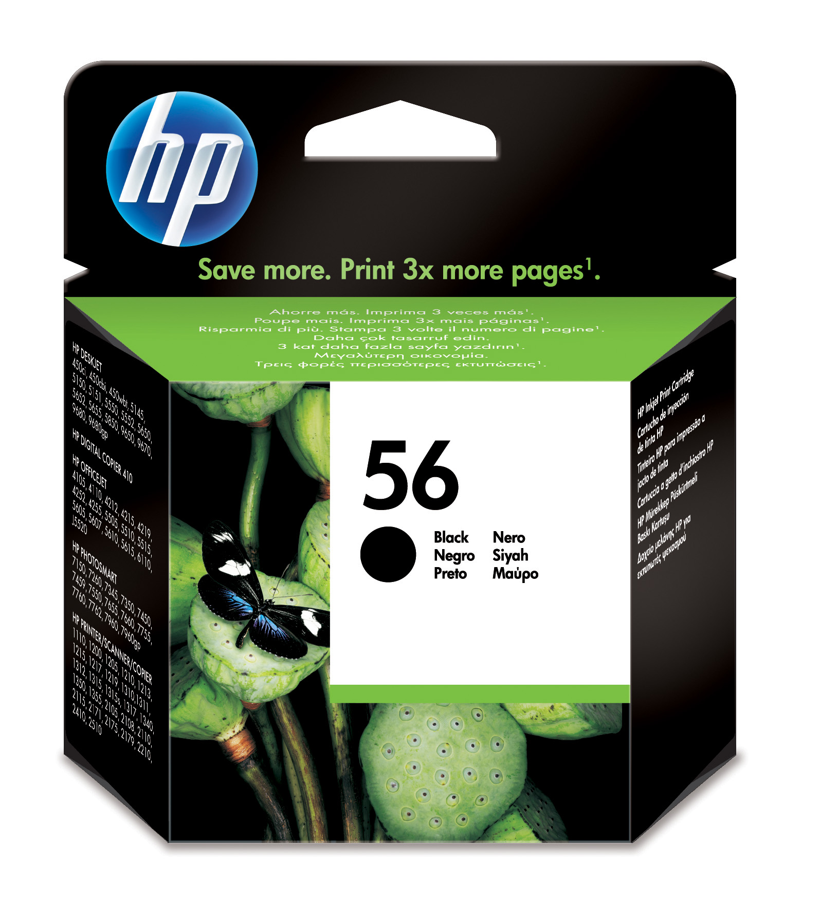Cartucho inkjet HP 56 (C6656AE) Negro