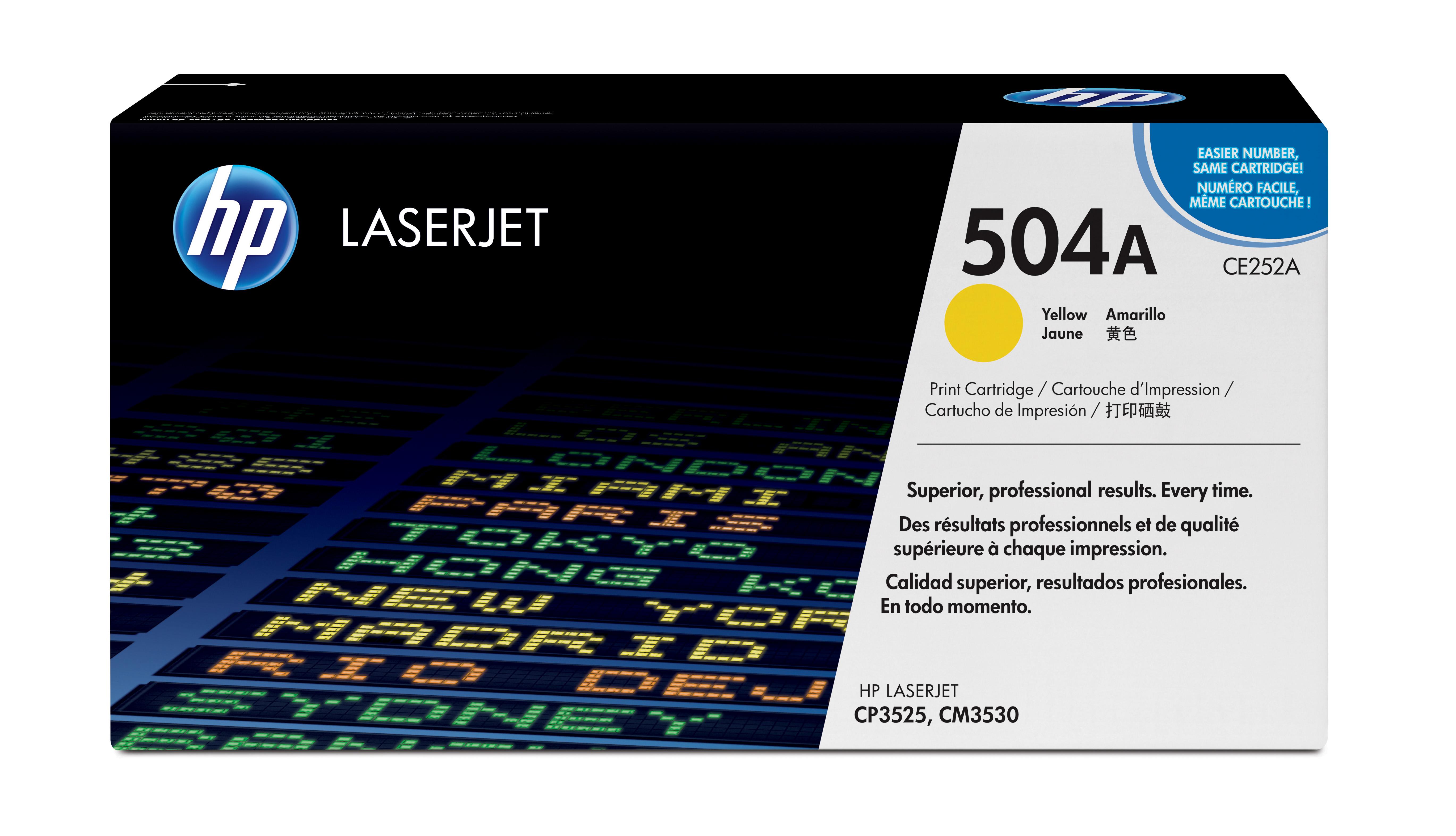 Toner láser HP 504A (CE252A) Amarillo