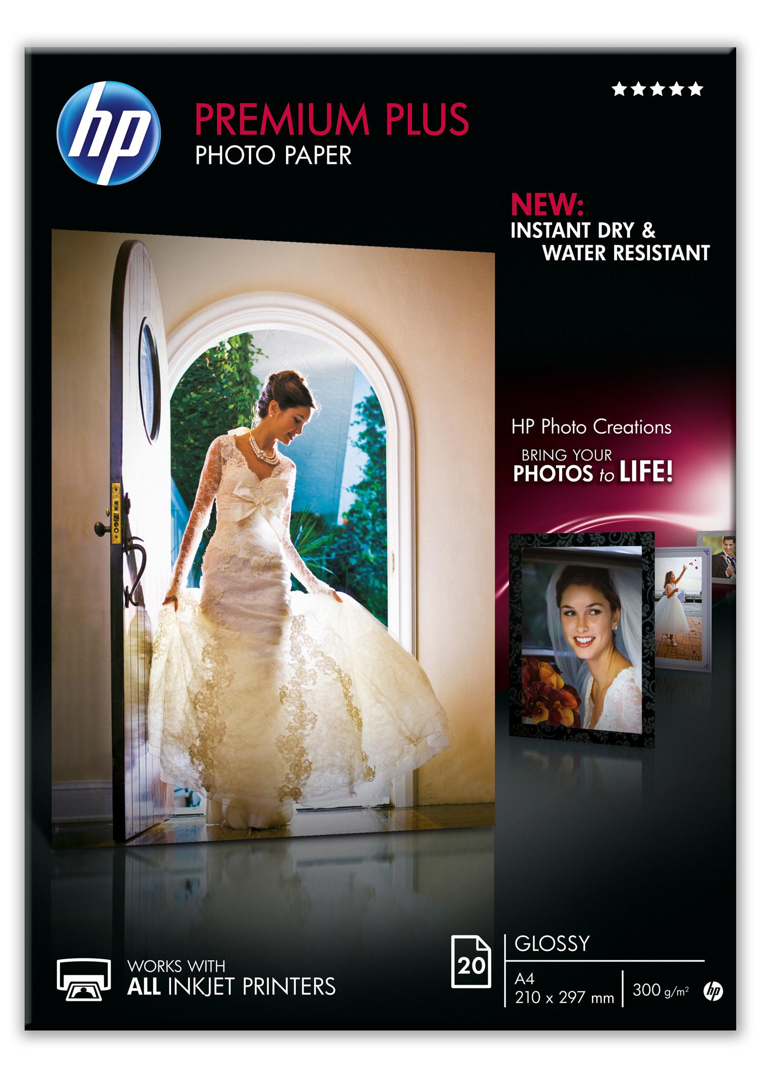 Papel fotográfico HP A4 Premium Plus 20h 300gr