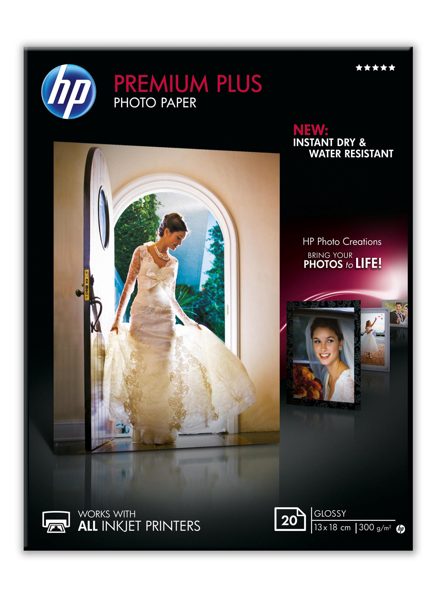 Papel fotográfico HP 13x18cm Premium Plus