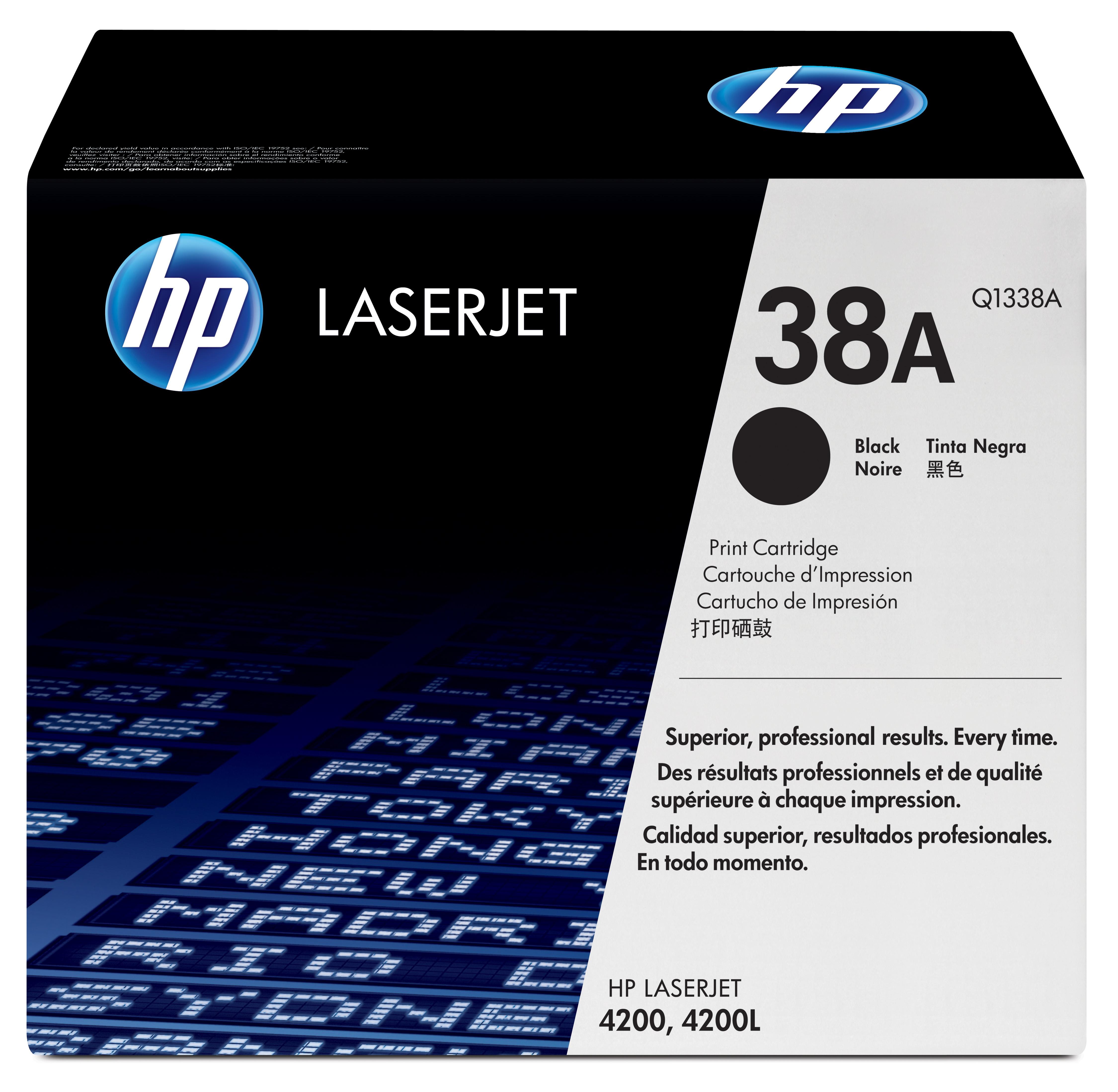 Toner láser HP 38A (Q1338A) Negro