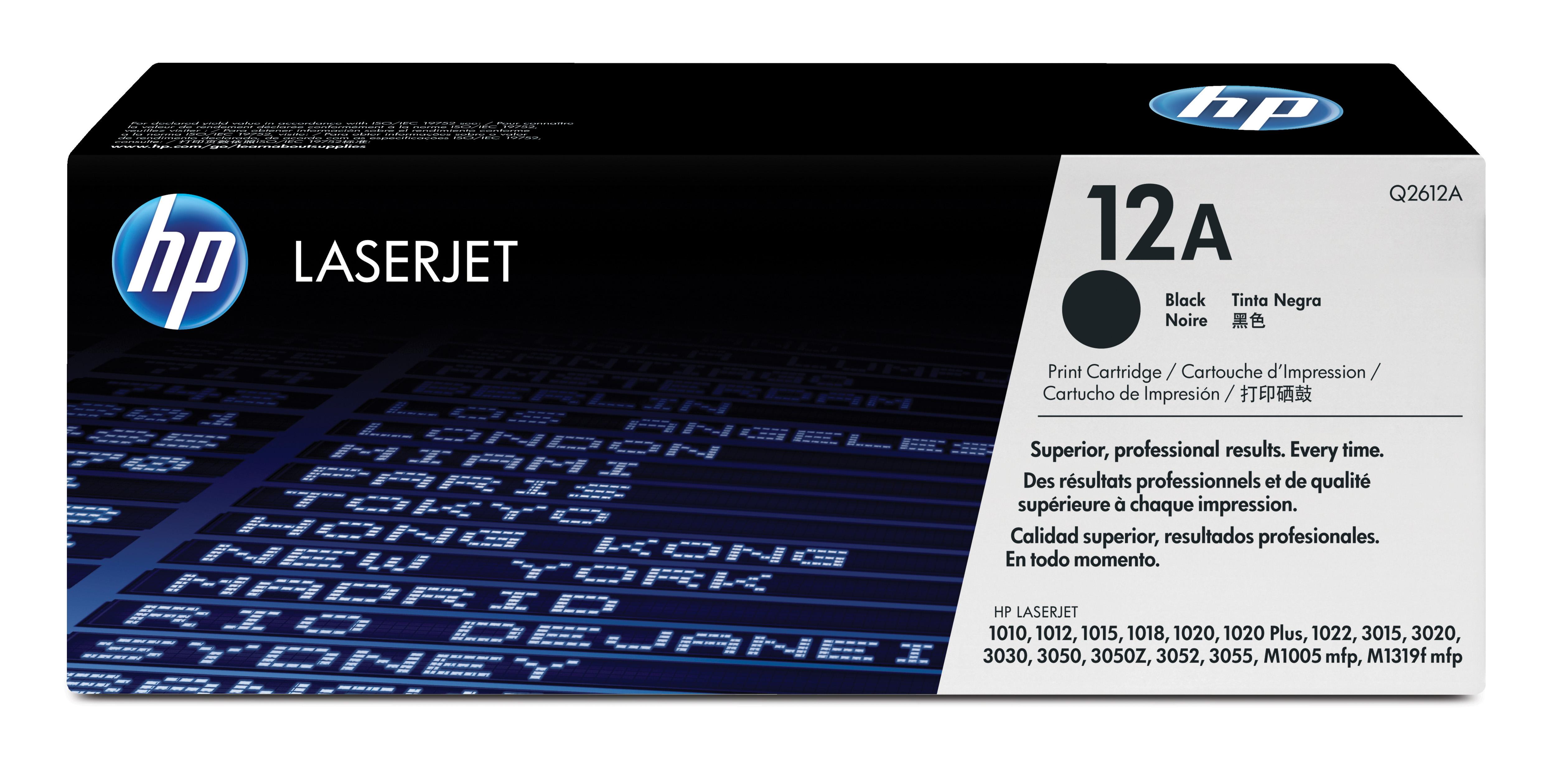 Toner láser HP 12A (Q2612A) Negro