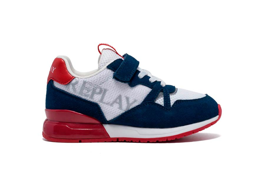CARDIFF 0218 WHITE/NAVY/RED