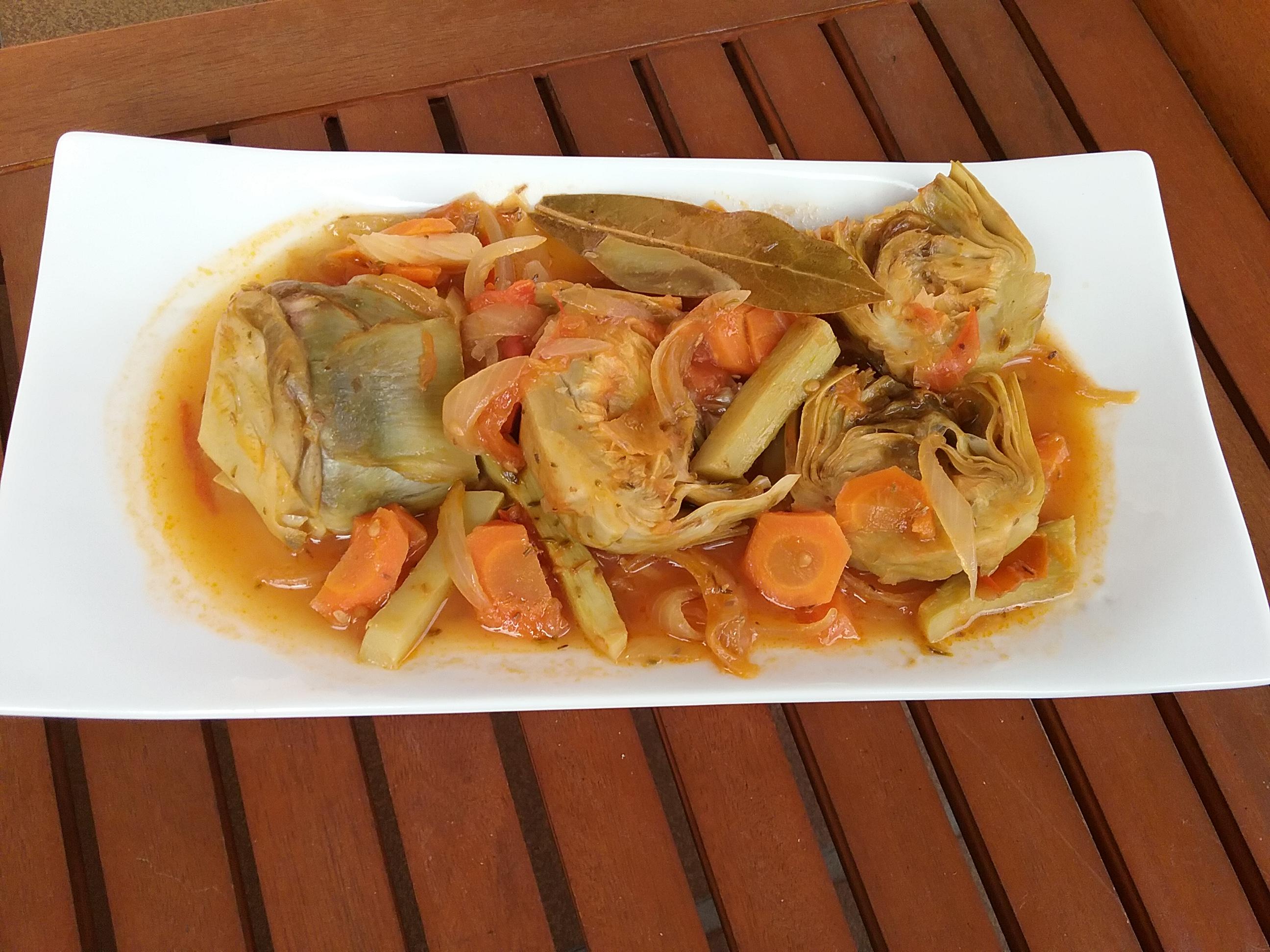 alcachofas a la catalana