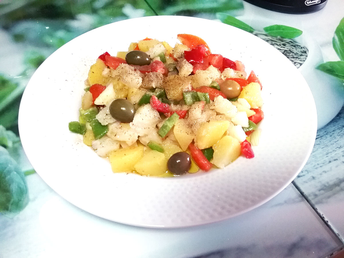 ensalada bacalao patatas