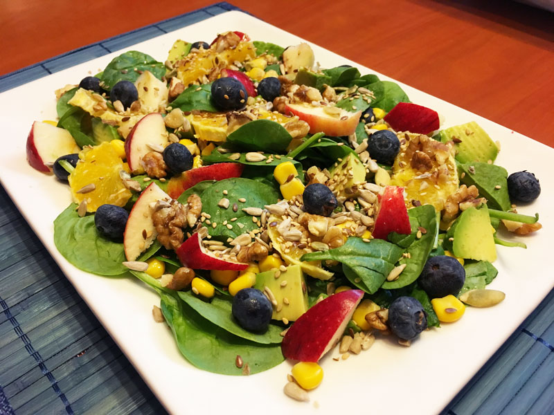 ensalada frutas verduras