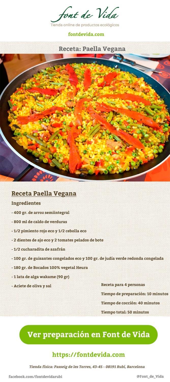 receta de paella vegana