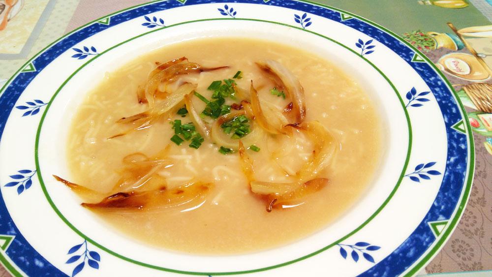 Receta Sopa Depurativa Cebolla