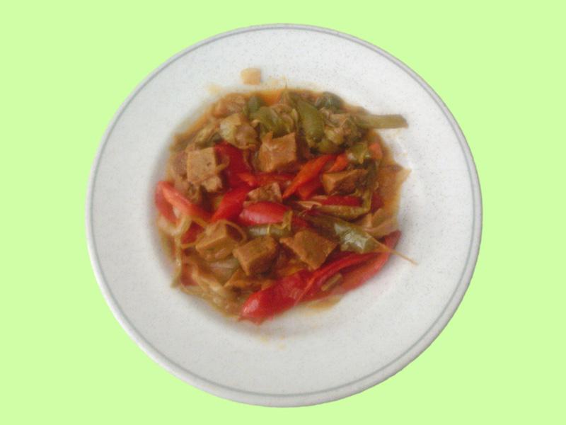 salteado seitan verduras