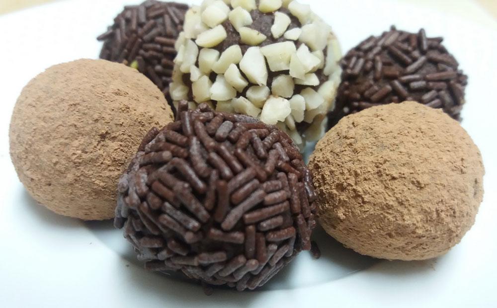trufas chocolate veganas