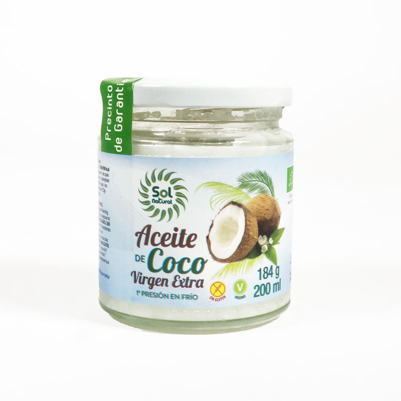 Aceite de coco 200 ml. Sol Natural