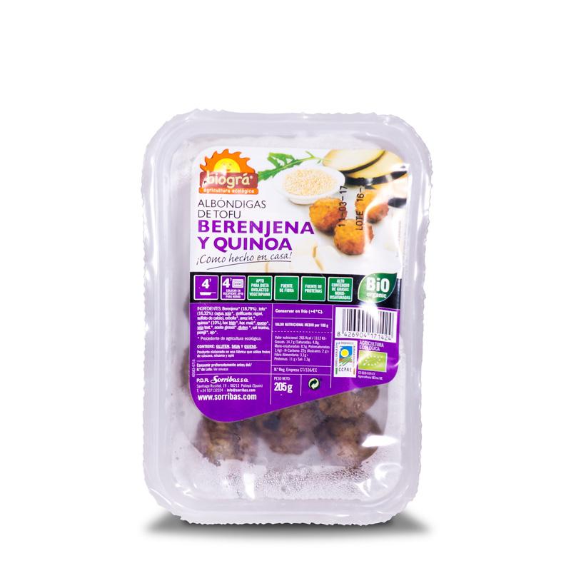 Albondigas berengena-quinoa 180gr Biográ
